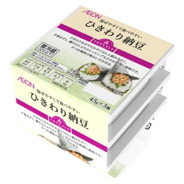 おうちでイオン イオンネットスーパートップバリュ ひきわり納豆 45g×3個: イオンレイクタウン店