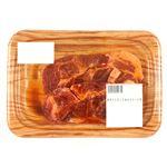 【予約】【4/29(木)~5/5(水)の配送】 原料肉/アメリカ 豚肉かたロース味付ステーキ用(にんにく黒胡椒)300g(100gあたり(本体)98円)