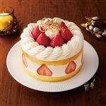 【クリスマス予約】【12月24日、25日の配送になります】 フレジェ 苺のプレミアムショートケーキ 直径約14cm×高さ約6cm ローソク付き 【M0026】