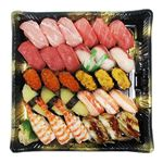 【予約商品】【12月31日~1月2日の配送となります】 三種本まぐろ食べ比べの贅沢握り寿司 30貫【わさびなし】