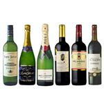 【クリスマス予約】【12月22日、23日、24日、25日の配送になります】 豪華!シャンパン2本入りフランス産ワインセット 750ml×6 【M0059】