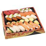 【クリスマス予約】【12月22日、23日、24日、25日の配送になります】 2種の海老が嬉しい味わい握り寿司 30貫【わさびなし】 1パック 【M0172】