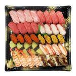 【予約商品】【12月31日~1月2日の配送となります】 三種本まぐろ食べ比べの贅沢握り寿司 40貫【わさびなし】