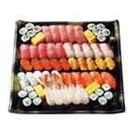 【予約商品】【12月31日~1月2日の配送となります】 迎春皆で食べる握り寿司盛合わせ 40貫+細巻+玉子焼【わさびなし】