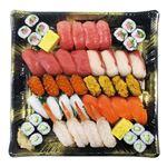 【予約商品】【12月31日~1月2日の配送となります】 迎春皆で食べる握り寿司盛合わせ 32貫+細巻+玉子焼【わさびなし】