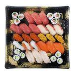 【予約商品】【12月31日~1月2日の配送となります】 迎春皆で食べる握り寿司盛合わせ 24貫+細巻【わさびあり】