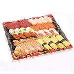 【出前のお寿司予約 トレー】北海道産ほたてが自慢の味わい握り寿司 40貫【わさびなし】