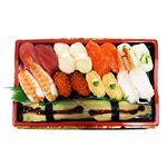 本まぐろと北海道産ほたて入りお奨め握り寿司 18貫(わさび抜き)1パック (火曜日の販売はございません)