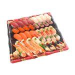 10種海鮮の味わい握り寿司(北海道ほたて)40貫(わさび抜き)1パック