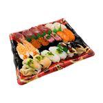 【出前のお寿司予約 トレー】めばちまぐろと8種海鮮の味わい握り寿司 20貫【わさびなし】