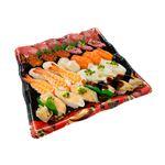 【出前のお寿司予約 トレー】めばちまぐろと8種海鮮の味わい握り寿司 30貫【わさびなし】