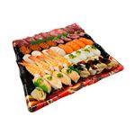 【出前のお寿司予約 トレー】めばちまぐろと8種海鮮の味わい握り寿司 40貫【わさびなし】(12時以降の配達便商品)