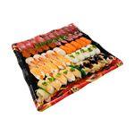 【出前のお寿司予約 トレー】めばちまぐろと8種海鮮の味わい握り寿司 50貫【わさびなし】(12時以降の配達便商品)