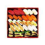 本まぐろと北海道産ほたて入りお奨め握り寿司 27貫(わさび抜き)1パック ※水・日・月・火曜日のお届けはございません