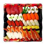 【出前のお寿司予約 トレー】2種の海老が嬉しい味わい握り寿司 40貫【わさびあり】
