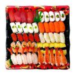 【出前のお寿司予約 トレー】2種の海老が嬉しい味わい握り寿司 50貫【わさびあり】