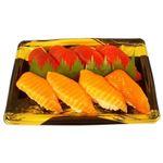 【出前のお寿司予約 トレー】まぐろ・サーモン握り寿司 8貫【わさびなし】