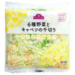 【予約商品】【7月18日~21日の配送となります】 トップバリュ 6種野菜とキャベツの千切り 1パック