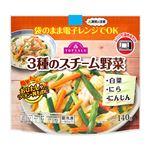 トップバリュ 3種のスチーム野菜(白菜 にら にんじん)140g