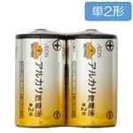 トップバリュベストプライス アルカリ乾電池 単2形 2個入 LR14BP2/2S