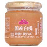 トップバリュ 国産白桃 砂糖不使用 180g