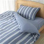 HOME COORDY カバー3点セットふとんベッド兼用 バリエーションストライプ(ブルー)シングル・シングルロングサイズ