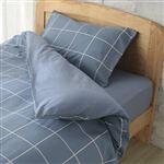 HOME COORDY カバー3点セット ベッド用 ウィンドウペンチェック(ブルー)シングルサイズ