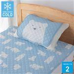 HOME COORDY シロクマ柄 まくらパッド(ブルー)43×50cm