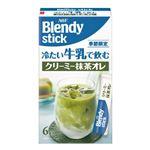 AGF ブレンディスティック 冷たい牛乳で飲む クリーミー抹茶オレ 6本入