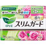 花王 ロリエ スリムガード スイートローズの香り 多い昼~ふつうの日用(羽つき 20.5cm)26コ入※お一人さま3点限り