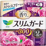 花王 ロリエ スリムガード スイートローズの香りつき 夜用300 多い夜用(羽つき 30cm)14コ入 ※お一人さま3点限り