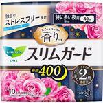 花王 ロリエ スリムガード スイートローズの香りつき 夜用400 特に多い夜用(羽つき 40cm)10コ入 ※お一人さま3点限り