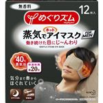 花王 めぐりズム 蒸気でホットアイマスク FOR MEN 無香料 12枚