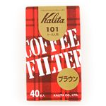カリタ コーヒーフィルター 101濾紙 ブラウン(40枚入)