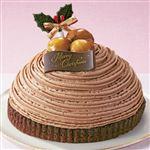 【クリスマス予約】【12月22日、23日、24日、25日の配送になります】 イタリア栗のクリスマスモンブラン 直径約14.5cm×高さ約5.5cm 【M0033】