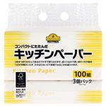 トップバリュベストプライス キッチンペーパー 100組(200枚)×3パック