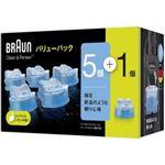 Braun クリーン&リニューシステム 専用洗浄液カートリッジ 5個入+1個 CCR5CR