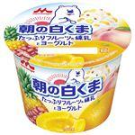 森永乳業 朝に食べたい白くま! たっぷりフルーツ&練乳とヨーグルト 140g
