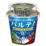森永乳業 濃密ギリシャヨーグルトパルテノ Wソース 抹茶&あずきソース入 80g+9g