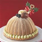 【クリスマス予約】【12月22日、23日、24日、25日の配送になります】 賛否両論監修 ほうじ茶とピスタチオの和モンブラン 直径約15cm×高さ約8cm