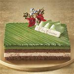 【クリスマス予約】【12月22日、23日、24日、25日の配送になります】 上林春松本店監修 宇治抹茶ブロンドチョコレートケーキ 約12cm×約15cm×高さ約4cm 【M0015】