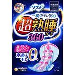ユニ・チャーム ソフィ 超熟睡ガード360 特に多い夜用(羽つき 36cm)くるっとテープつき 12コ入※お一人さま3点限り