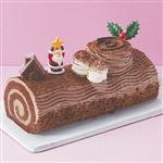 【クリスマス予約】【12月22日、23日、24日、25日の配送になります】 ブッシュドノエル 長さ約18.5cm×幅約8.2cm×高さ約5.3cm