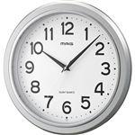 ノア精密 掛時計モアマグ(シルバー)W-648