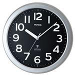 ノア精密 電波掛時計 ロズベルグ W-705SM-Z