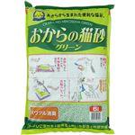 【ペット用】常陸化工 おからの猫砂 グリーン 6L