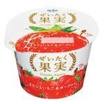 オハヨー乳業 ぜいたく果実 まるごといちご&ヨーグルト 125g