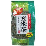 日本茶販売 ファミリーサイズ 玄米茶 400g
