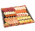 【6/10~6/16お届け】 北海道産ほたてが嬉しい味わい握り寿司 50貫(わさびなし)