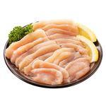 トップバリュ グリーンアイ 純輝鶏皮なしむね肉うす切り(国産)350g(100gあたり(本体)158円)
